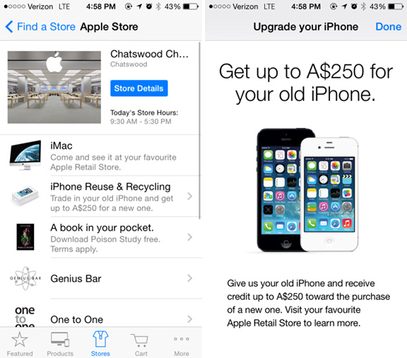 The rumored Apple trade-in program has gone live. Now you can take your old and tired iPhone and trade it in for a new iPhone. But you have to actually make it to an Apple Store.