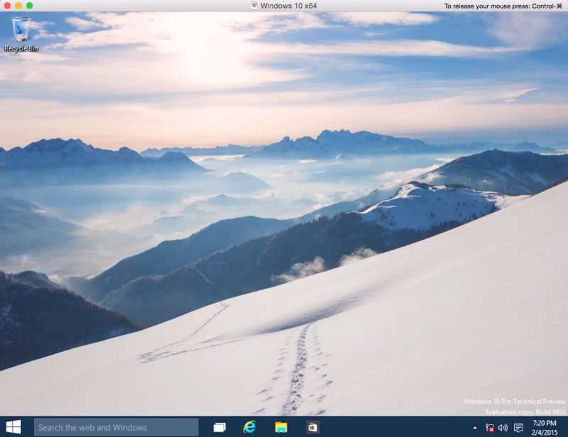 Как установить windows 10 technical preview на mac с